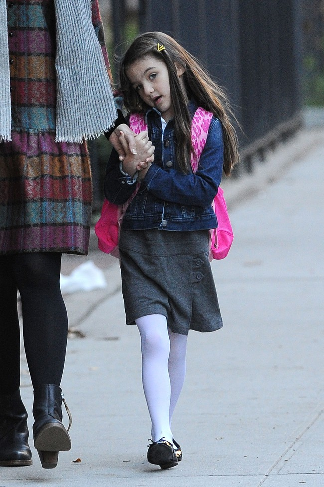 Katie Holmes et Suri à New-York le 16 octobre 2012