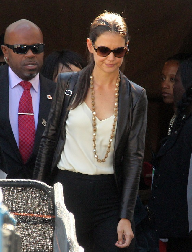 Katie Holmes le 12 septembre 2012 à la Fashion Week de New York