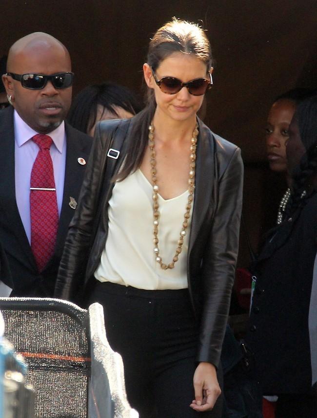 Katie Holmes le 12 septembre 2012 à la Fashion Week de New York