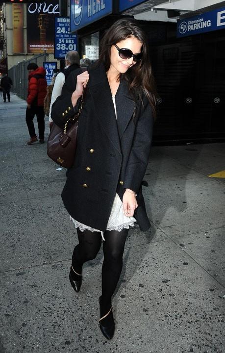 Katie Holmes à New-York le 3 janvier 2013