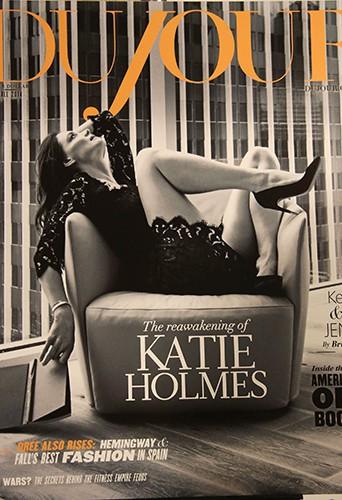 La couverture de Katie Holmes à New York le 16 septembre 2014