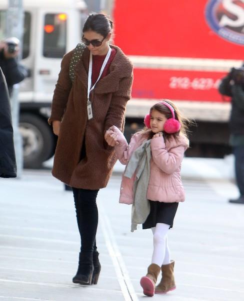 Katie Holmes et Suri Cruise, le 12 décembre 2013 à New York