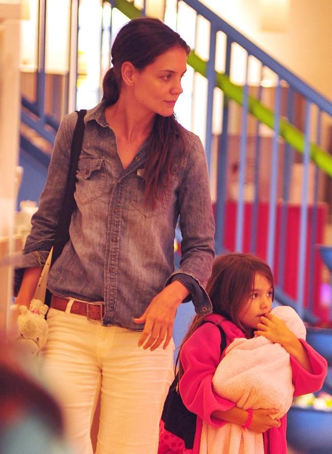 Katie Holmes et Suri Cruise le 21 août 2012 à New York