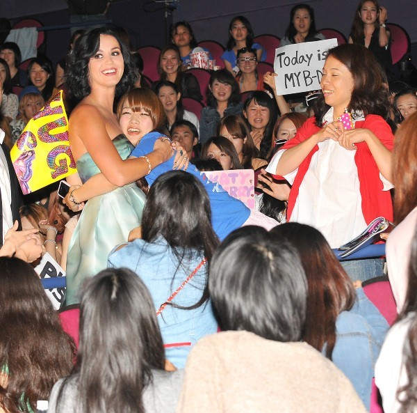 Katy Perry à Tokyo, le 25 septembre 2012.