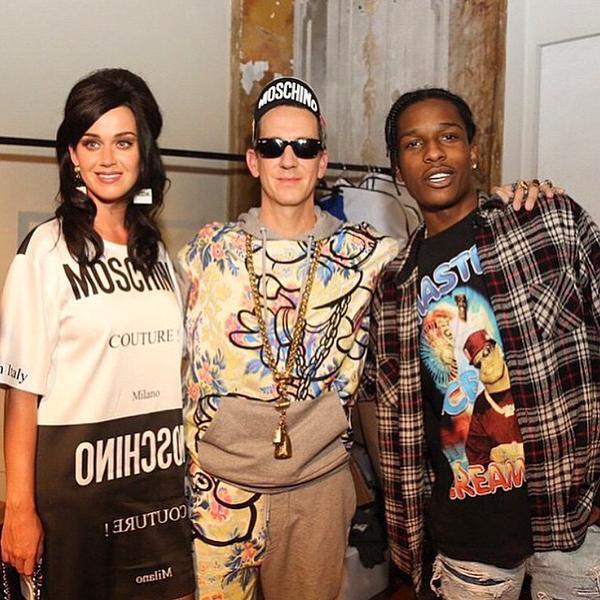 Katy Perry : Canon pour le d�fil� Moschino aux c�t�s d'ASAP Rocky et de Jeremy Scott !