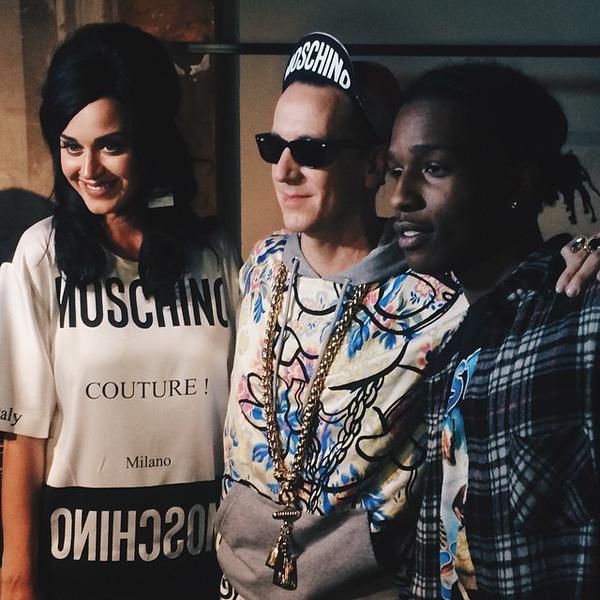 Katy Perry : Canon pour le défilé Moschino aux côtés d'ASAP Rocky et de Jeremy Scott !