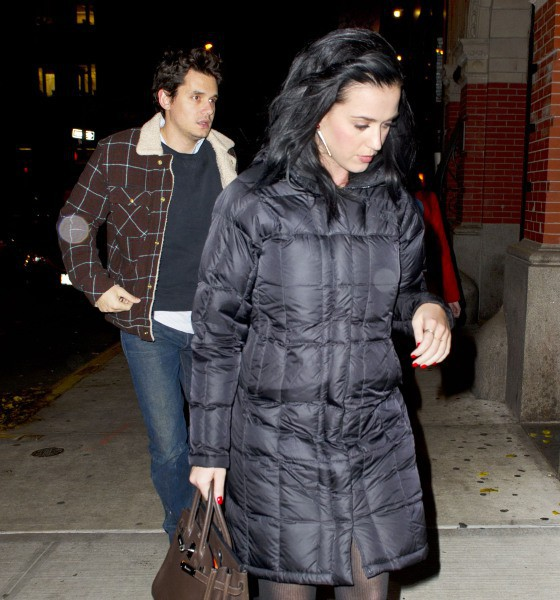 Katy Perry et John Mayer à New York, le 19 novembre 2013.