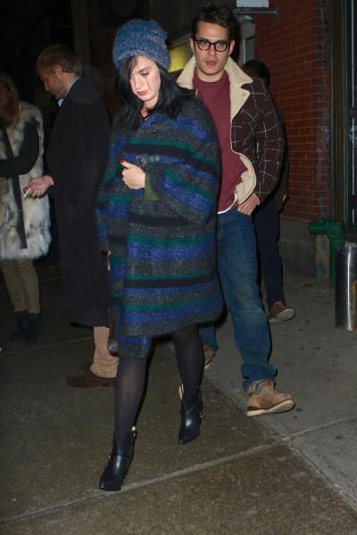 Katy Perry et John Mayer à New York, le 20 novembre 2013.