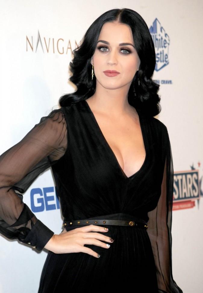 Katy Perry lors d'une soirée caritative à New York, le 13 octobre 2012.
