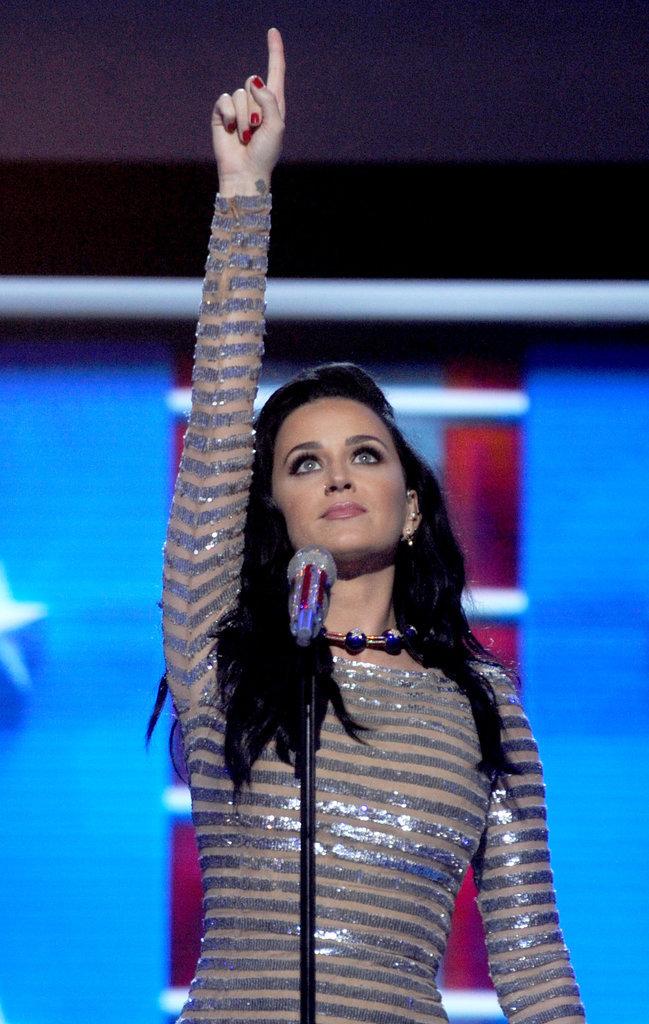 Katy Perry à la Convention démocrate le 28 juillet à Philadelphie