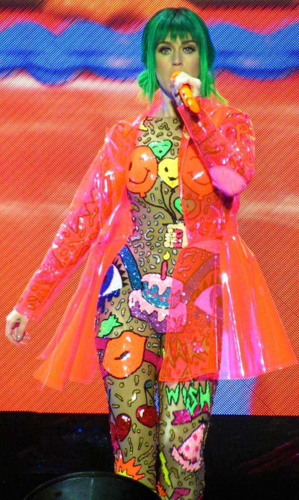 Katy Perry en concert à Nottingham, le 11 mai 2014.