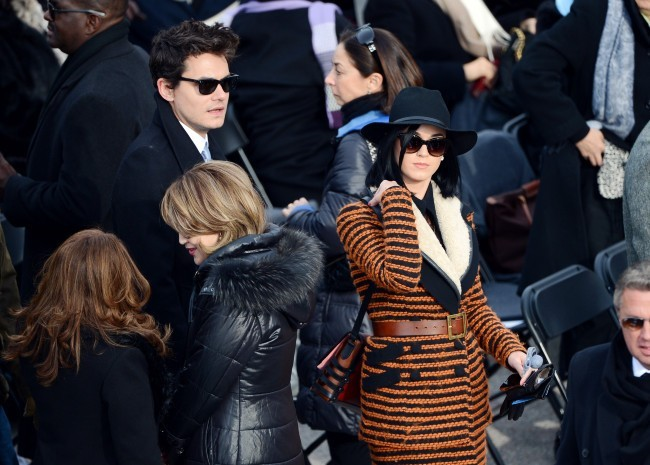 Katy Perry et John Mayer le 21 janvier 2013 à Washington