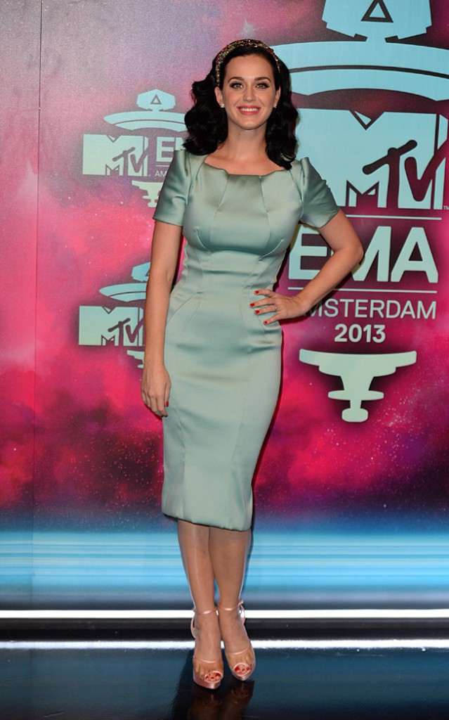 Katy Perry aux MTV European Music Awards, à Amsterdam, le 10 septembre 2013
