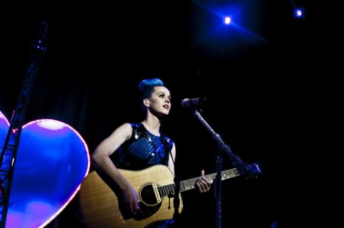 Katy Perry lors de son concert privé à Paris, le 20 mars 2012.