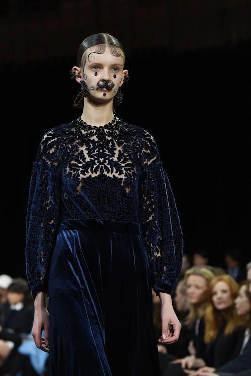 Mannequin au défilé Givenchy, le 8 mars 2015 à Paris