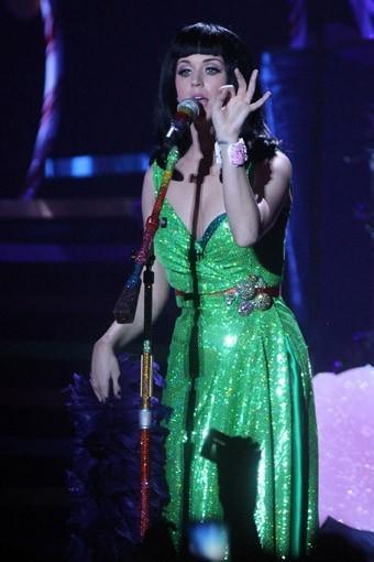Katy Perry en concert à Milan, le 23 février 2011.