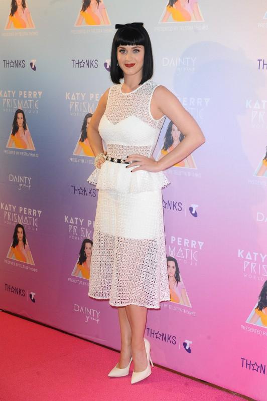 Katy Perry en promo à Sydney, le 4 mars 2014.