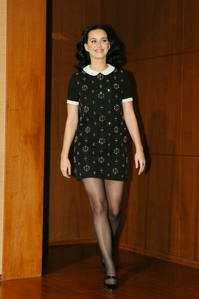 Katy Perry en promo à Tokyo, le 4 novembre 2013.