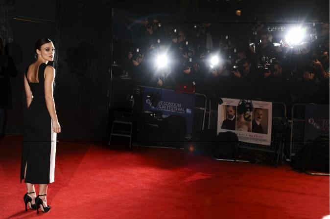 Keira Knightley lors de la première du film A Dangerous Method à Londres, le 24 octobre 2011.