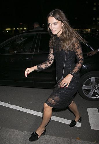 Keira Knightley à Londres le 3 septembre 2014