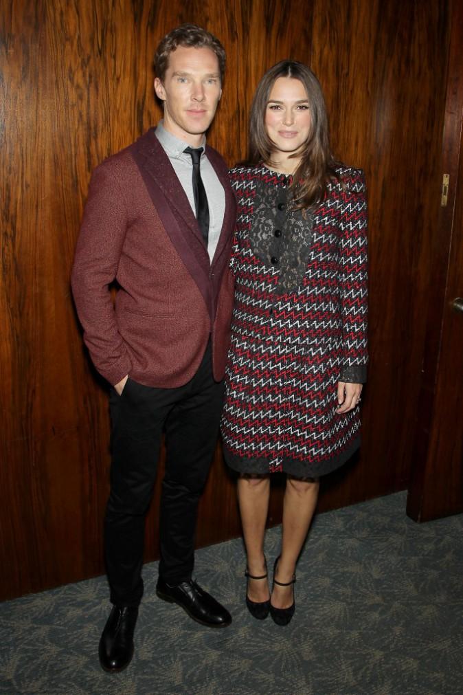 Keira Knightley et Benedict Cumberbatch le 17 novembre 2014