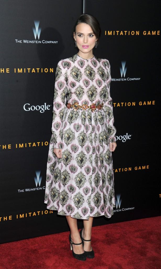 Keira Knightley le 17 novembre 2014