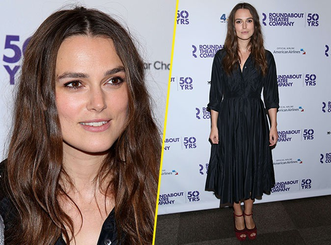Keira Knightley, p�tillante pour sa premi�re apparition officielle depuis b�b� !