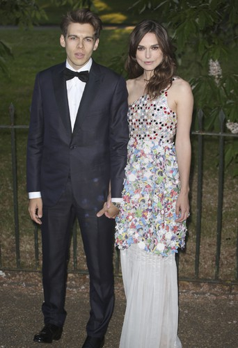 James Righton et Keira Knightley à Londres le 1er juillet 2014