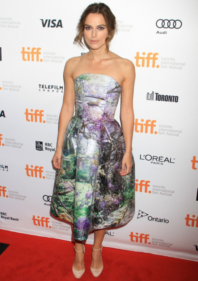 Keira Knightley lors du Festival International du Film de Toronto, le 8 septembre 2013.