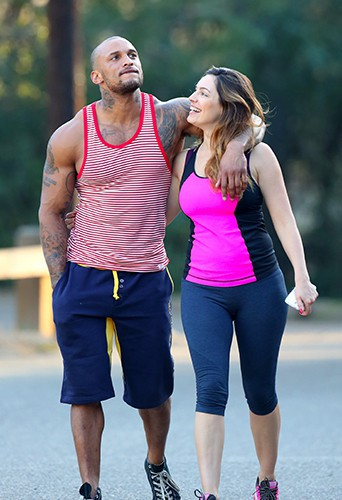 Kelly Brook et David Mcintosh à Los Angeles le 14 février 2014