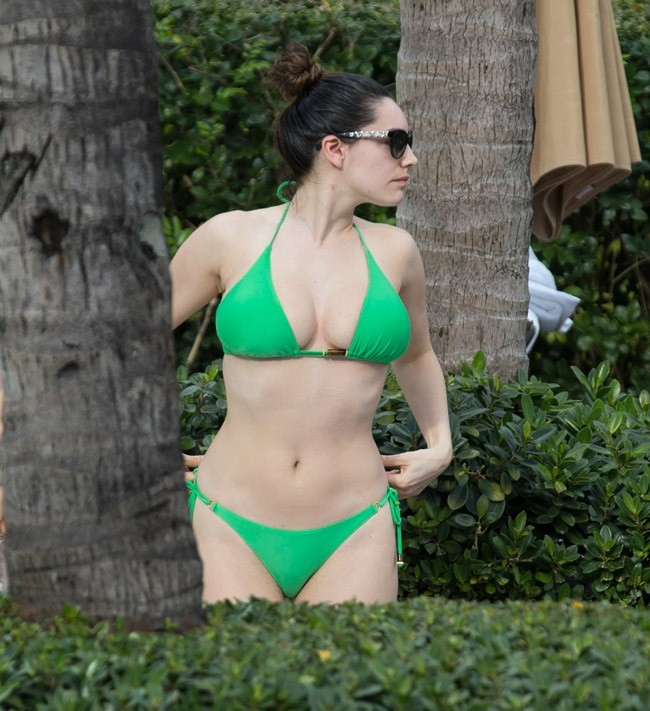 Kelly Brook à Miami le 1er février 2013