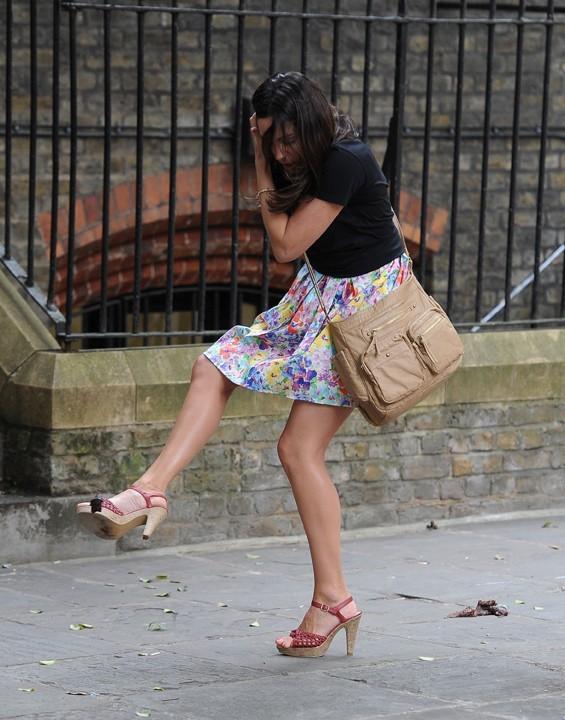 Kelly Brook à Londres le 1er juillet 2013