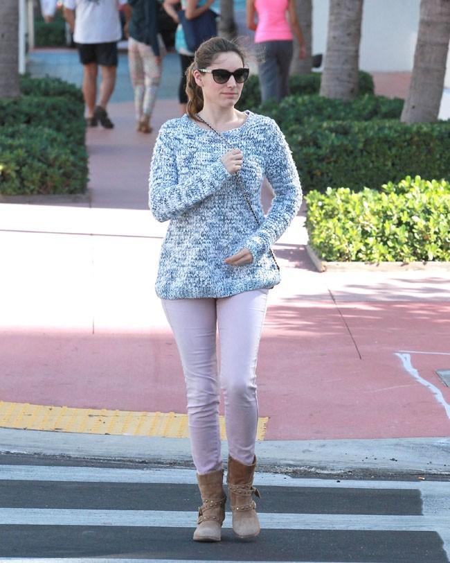 Kelly Brook à Miami le 1er février 2013