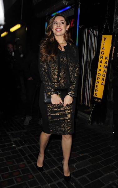 Kelly Brook à Londres, le 26 novembre 2013.