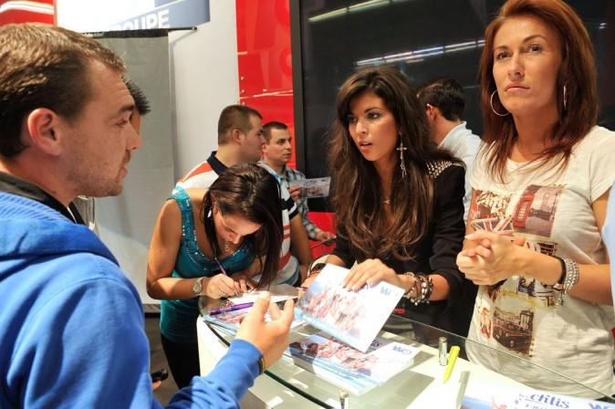Les Ch'tis au Salon de l'auto de Paris le 4 octobre 2012