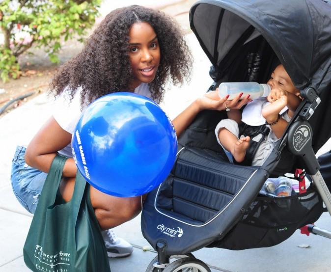 Kelly Rowland et son fils, le 21 juillet 2015