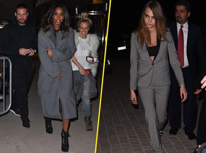 """Photos : Kelly Rowland et Cara Delevingne : deux nuances de """"grey"""" pour la dernière de Kanye West !"""
