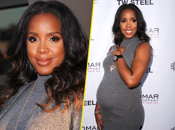 Photos : Kelly Rowland : toujours aussi radieuse, la future maman continue de bosser !