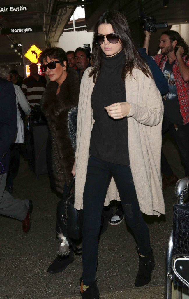 Photos : Kendall et Kris Jenner : bye bye Paris !