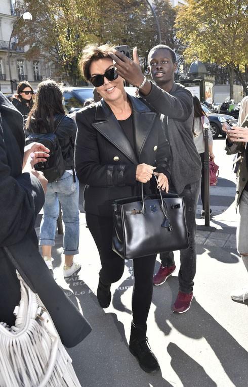 Kris Jenner à Paris le 29 septembre 2015