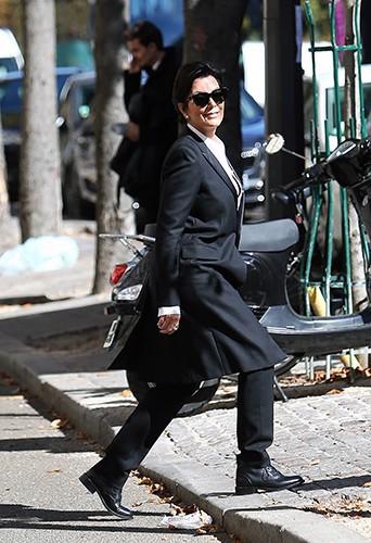 Kris Jenner à Paris le 26 septembre 2014