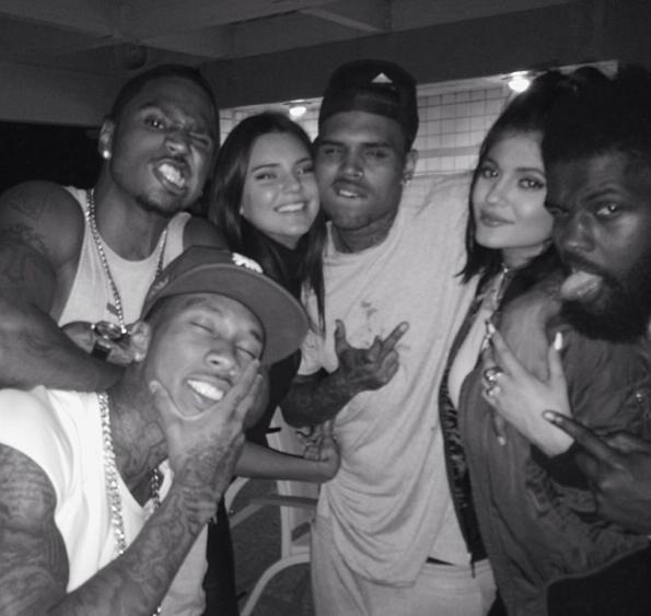 Photos : Kendall et Kylie Jenner : Chris Brown, Trey Songz, Tyga… Elle s'éclatent avec leurs nouveaux amis rappeurs !