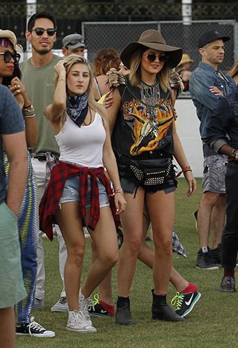 Kylie Jenner et sa bande à Indio le 18 avril 2014