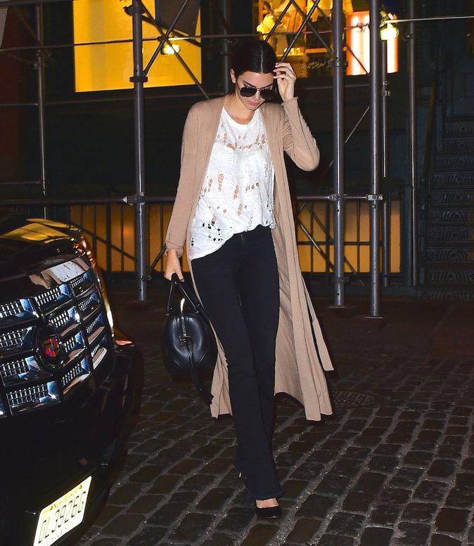 Kendall et Kylie Jenner à New York le 19 octobre 2015