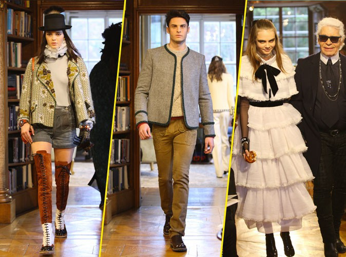 Photos : Kendall Jenner, Baptiste Giabiconi, Cara Delevingne : enchanteurs pour Chanel et Karl Lagerfeld !
