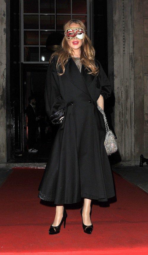 Lindsay Lohan à Londres, le 9 octobre 2015