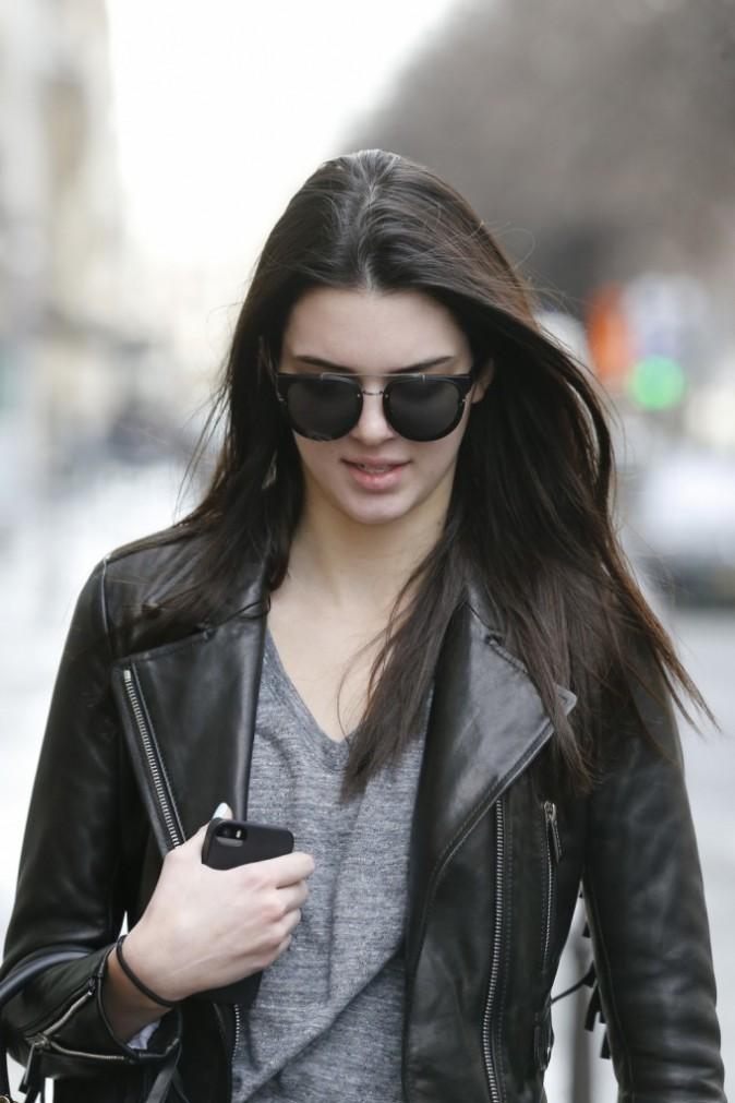 Kendall Jenner hier à Paris