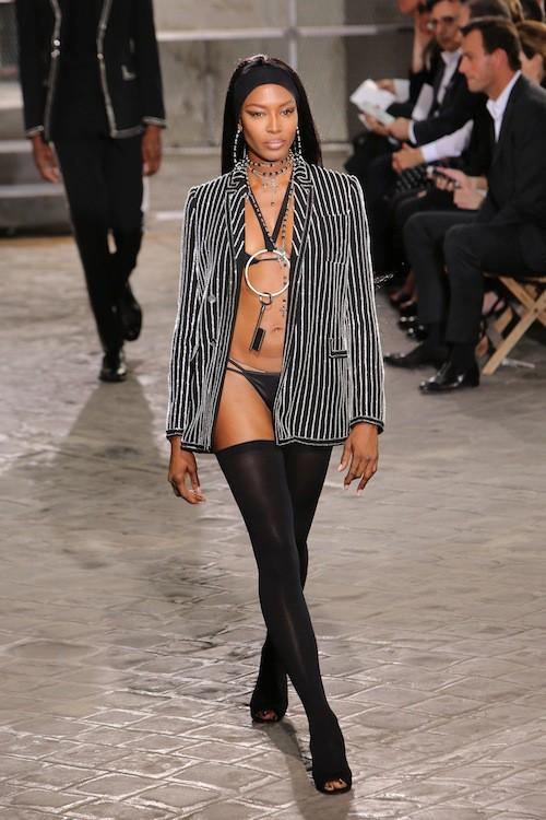 Naomi Campbell au défilé Givenchy, le 26 juin 2015 à Paris