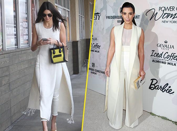 Kendall Jenner : un super look inspir� par Kim Kardashian !