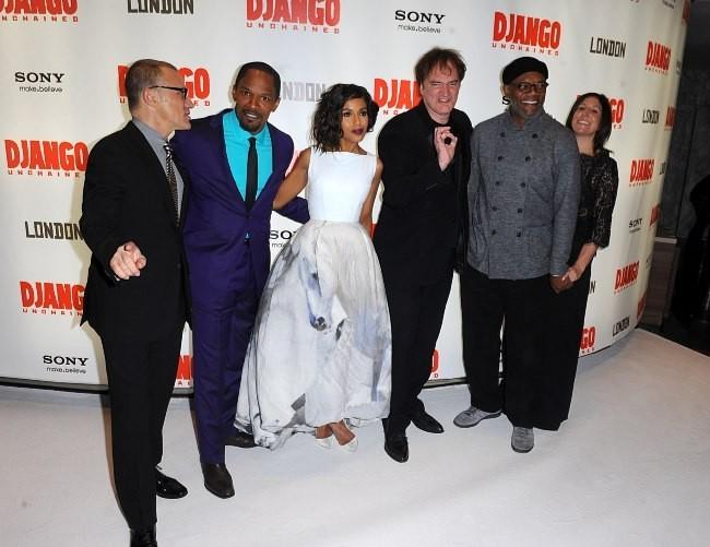 Kerry Washington et l'équipe du film Django Unchained à Londres, le 10 janvier 2013.